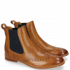 Bottines Amelie 5 Tan Perfo Elastic Navy