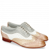 Richelieu Sally 97 Salerno Pale Rose Nude Nappa Perfo White French Grey