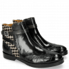 Bottines Amelie 11 Turtle Petrol Hairon Tweed Black White