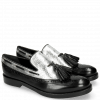 Mocassins Amelie 60 Black Cromia Silver Tassel