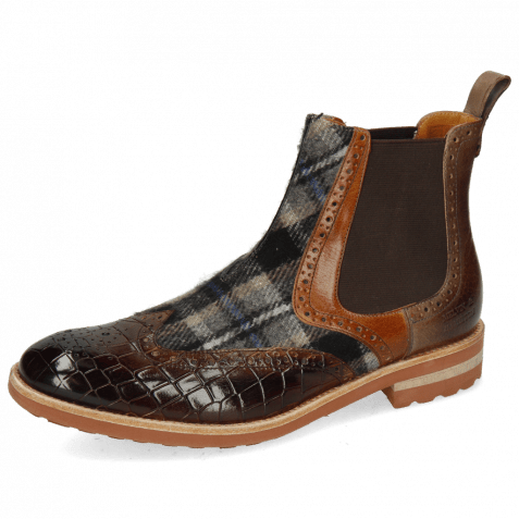 Bottines Eddy 28 Crock Mid Brown Wood Textile Crayon Chestnut