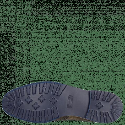 Derbies Johnny 1 Classic Stone Smog Baby Croco Smog Crip Blue