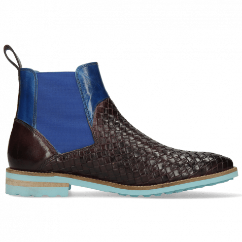 Bottines Brad 9 Woven Venice Deep Pink Bluette