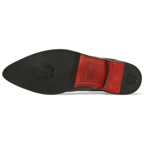 Derbies Toni 39 Crock London Fog Soft Patent Black Smoke Suede Pattini Black