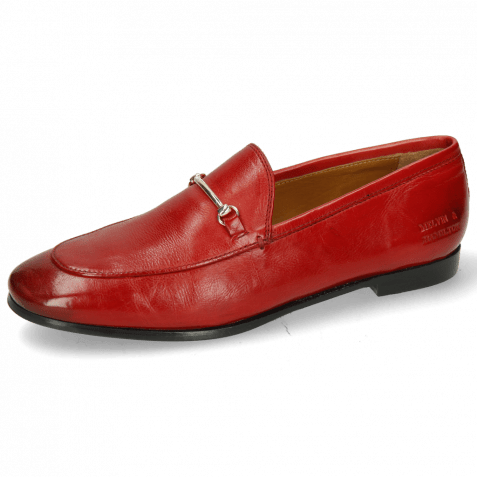Mocassins Scarlett 22 Pisa Ruby Trim Gold