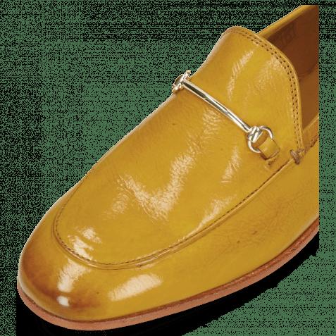 Mocassins Scarlett 22  Pisa Yellow Trim Gold