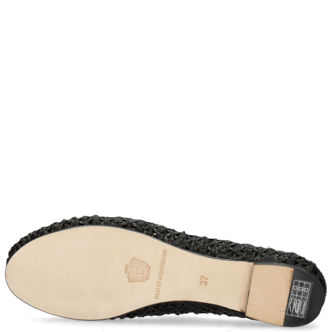 Ballerines Kate 5 Woven Black Raffia Accessory Bee