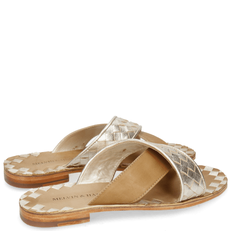 Mules Elodie 10 Woven Cherso Bisque Vegas Sand