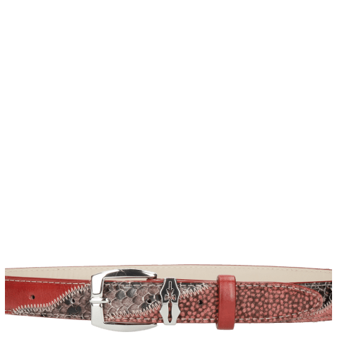 Ceintures Linda 2 Snake Wine Hairon Halftone Wine Ruby Sword Buckle