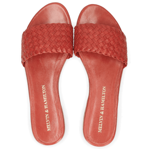 Mules Hanna 26 Woven Red