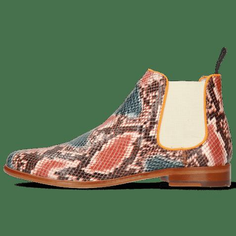 Bottines Selina 48 Snake King Multi Rust