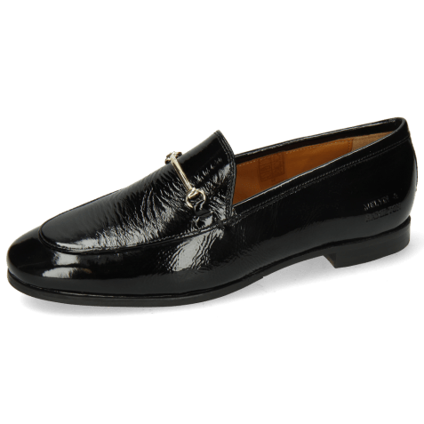 Mocassins Scarlett 22 Soft Patent Black Trim Gold