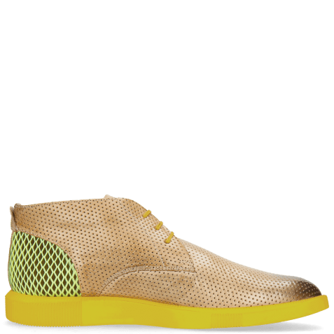Sneakers Newton 2 Franky Perfo Digital Underlay Suede Yellow