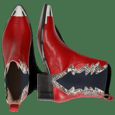 Bottines May 1 Guana Ruby Snake Off White