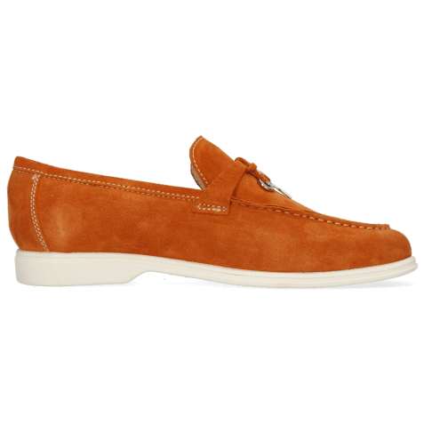 Mocassins Earl 3 Suede Pattini Orange