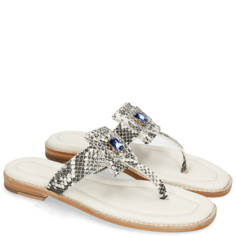 Mules Elodie 30 Snake Off White