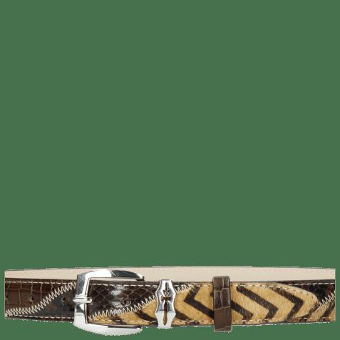 Ceintures Linda 1 Crock Brown Hairon Driveway Sword Buckle