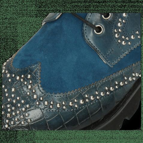 Bottines Sally 120 Crock Ice Lake Sheep Suede Turquoise