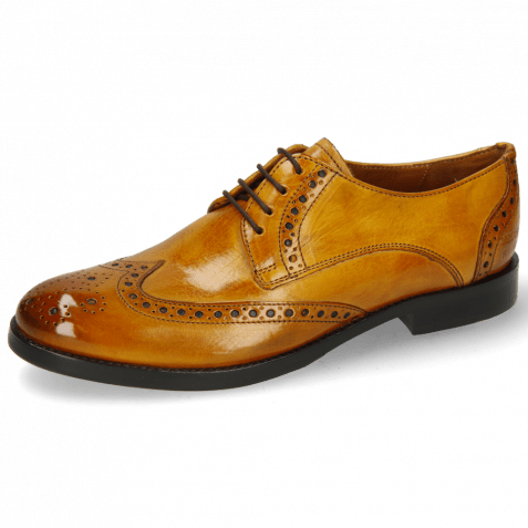 Derbies Amelie 3 Indy Yellow Lining Nappa