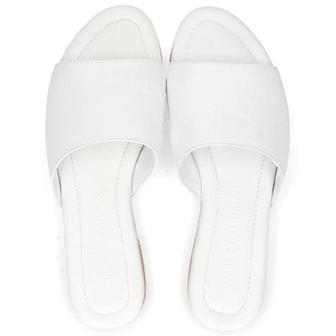 Mules Hanna 5 Nappa Plain White