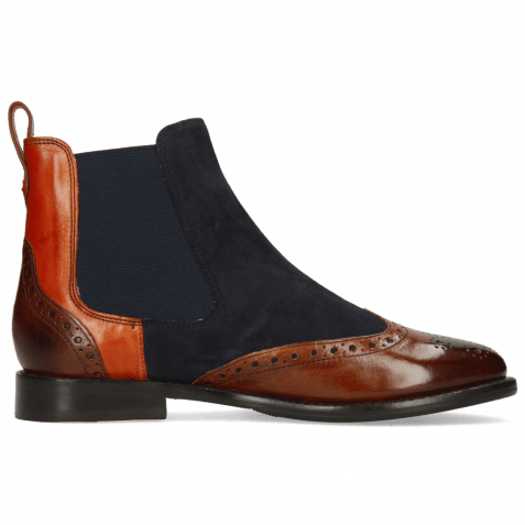 Bottines Selina 29 Wood Suede Reflex Blue Winter Orange Flex