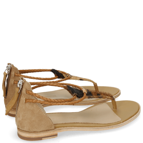 Sandales Sandra 39 Hairon Camo Suede Camel