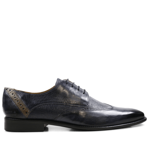 Derbies Xabi 1 Berlin Haina Navy Strap Smoke
