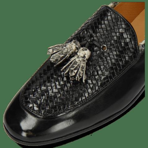 Mocassins Clive 21 Imola Black Woven Snake