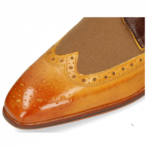 Derbies Lewis 3 Imola Mastic Textile Safari Tan Mid Brown Yellow