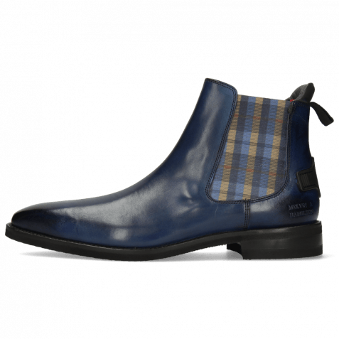 Bottines Dave 5 Nappa Navy Elastic Norwegian