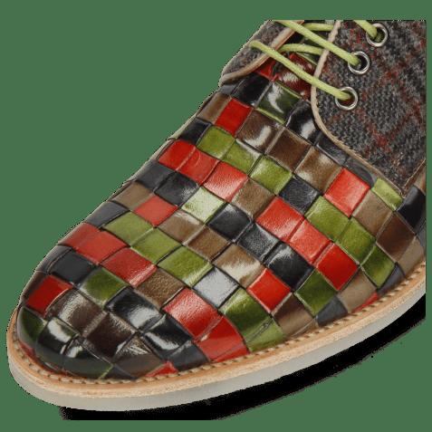 Derbies Brad 7 Woven Multi Textile Charcoal