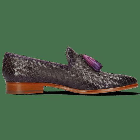 Mocassins Brad 10 Woven Grigio Shade Purple Flame