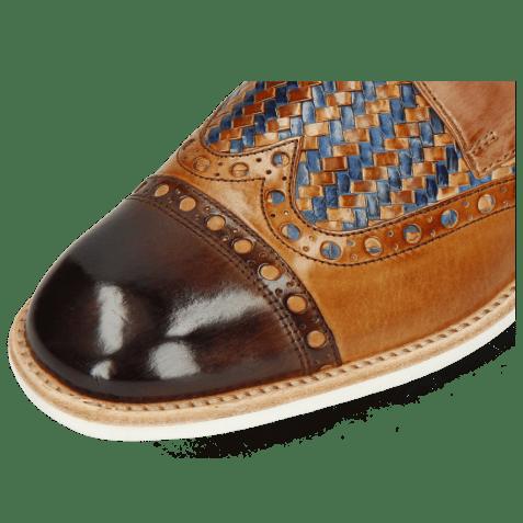 Derbies Eddy 48 Mid Brown Tan Haring Bone Weave