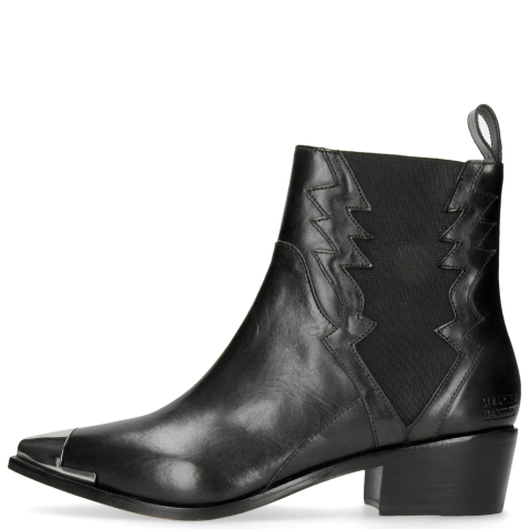 Bottines May 1 Black Toe Cap Gunmetal