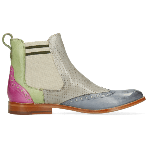 Bottines Amelie 5 Imola Satellite Algae Lilac Perfo Digital