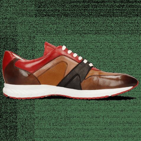 Sneakers Blair 9 Pisa Mid Brown Prick Perfo Tan Ruby Stretch Prisma Bronze