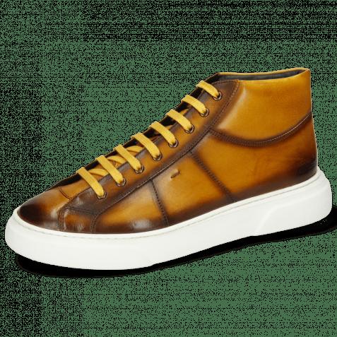 Sneakers Mick 1 Pavia Indy Yellow Shade Dark Brown