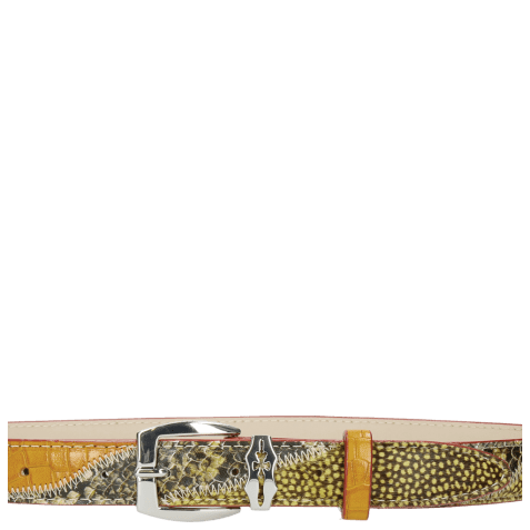 Ceintures Linda 2 Snake Yellow Hairon Halftone New Grass Sword Buckle