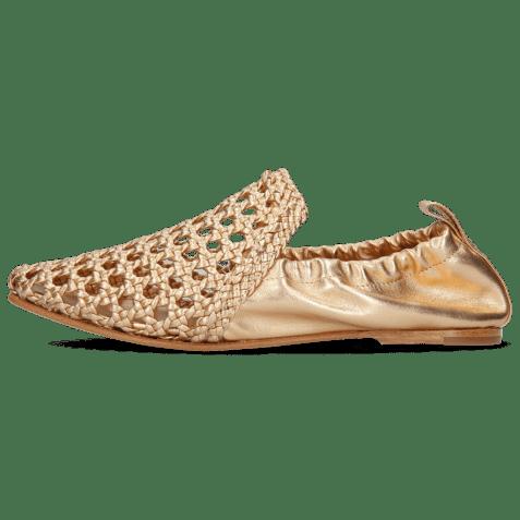 Mocassins Melly 7 Mignon Nude Gold Nappa Talca