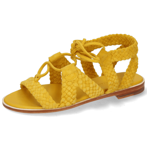 Sandales Sandra 11 Suede Chilena Woven Yellow Footbed