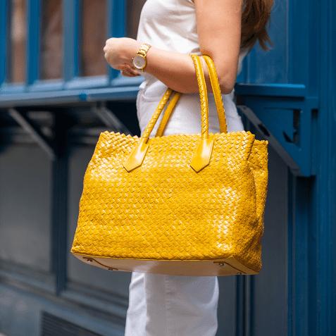 Sacs à main Kimberly 1 Woven Yellow