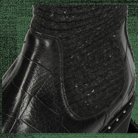 Bottines Susan 69 Turtle Black Textile Brina Black Lining