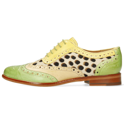 Richelieu Selina 56 Vegas Verde Chiaro Beige Margarine Hairon Wildcat