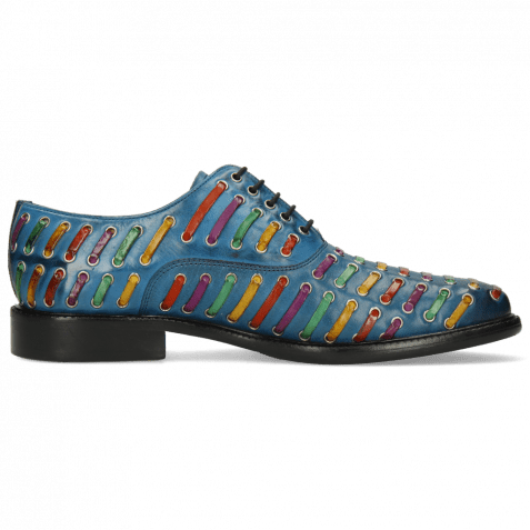 Richelieu Henry 25 Mid Blue Interlaced Multi