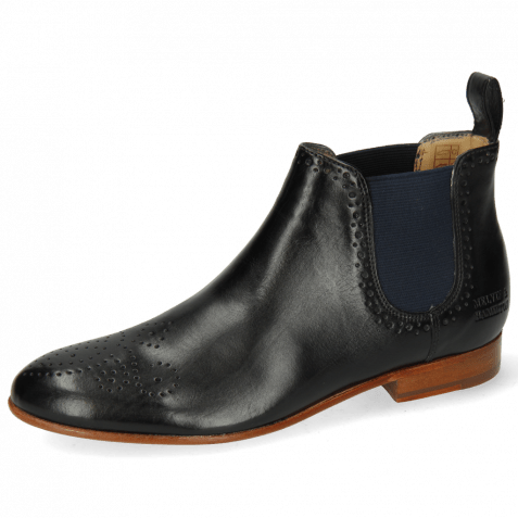 Bottines Sally 16 Imola Black Elastic Navy