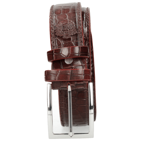 Ceintures Larry 1 Crock Burgundy Classic Buckle