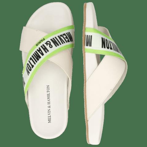 Mules Robert 16 Flex White Strap M&H Green
