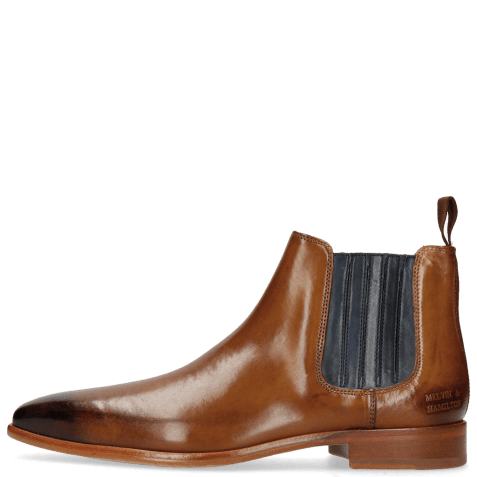 Bottines Lance 52 Wood Elastic Navy