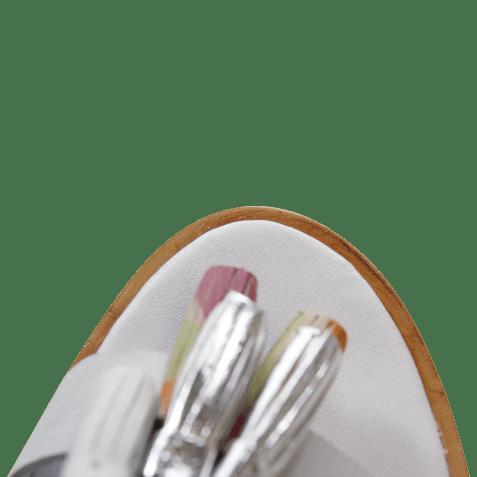 Sandales Sandra 17 Crust White Nubuk Grey Tassel Multi LS