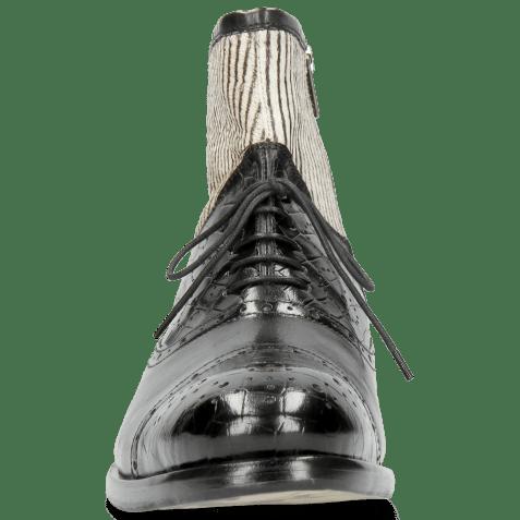 Bottines Patrick 4 Crock Black Hairon Stripes